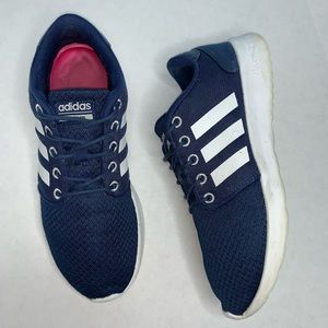 Adidas Navy and White Sneakers